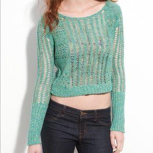 Free People Open Knit Crop Sweater